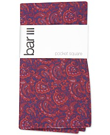 Bar III Men's Stewart Paisley Pocket Square, Created for Macy's