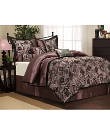 Versailles 7-Piece Purple California King Comforter Set