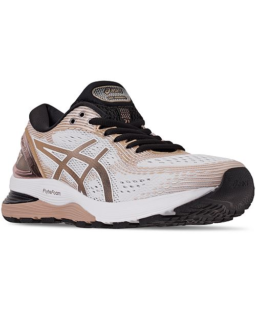 Asics Women's GEL-Nimbus 21 Platinum Running Sneakers from Finish Line