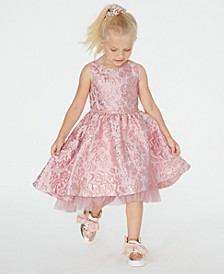 Little Girls Brocade Fit & Flare Dress