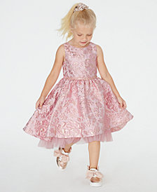Rare Editions Toddler Girls Brocade Fit & Flare Dress