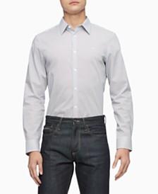 Calvin Klein Men's Stretch Dot Pattern Shirt