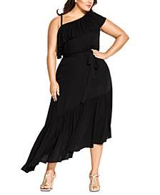 Trendy Plus Size Beach Love Maxi Dress