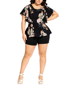 City Chic Trendy Plus Size Mid Summer Top