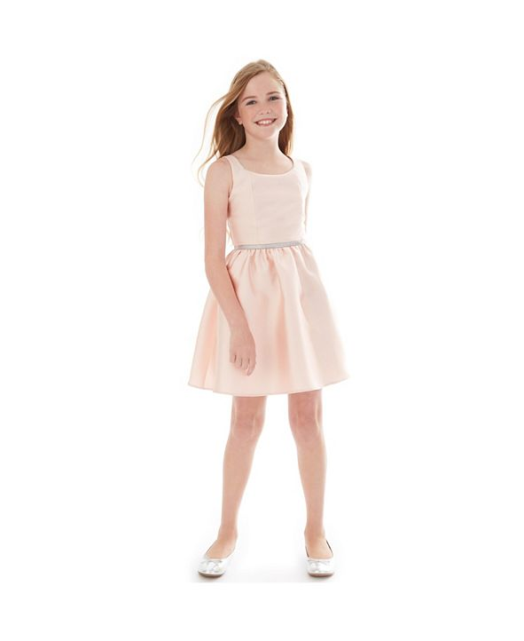 BCX Big Girls Embellished-Waist Fit & Flare Dress