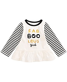 Baby Girls Cotton Fab-Boo-Lous T-Shirt, Created for Macy's