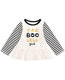 First Impressions Baby Girls Cotton Fab-Boo-Lous T-Shirt, Created for Macy's