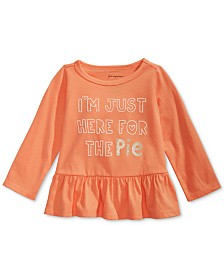 First Impressions Baby Girls Cotton Pie Peplum-Hem T-Shirt, Created for Macy's