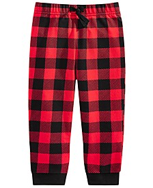 Toddler Boys Buffalo-Plaid Jogger Pants, Created For Macy's