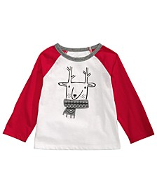 Toddler Boys Reindeer Raglan T-Shirt, Created For Macy's
