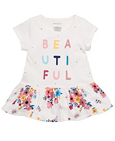Toddler Girls Beautiful-Print Cotton Peplum Tunic, Created for Macy's