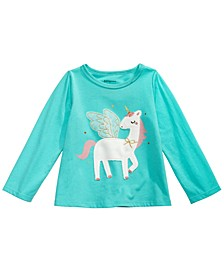 Baby Girls Unicorn-Print Cotton T-Shirt, Created For Macy's