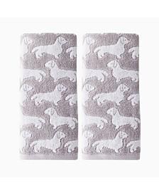 Saturday Knight Ltd Dog 2 Piece Hand Towel Set