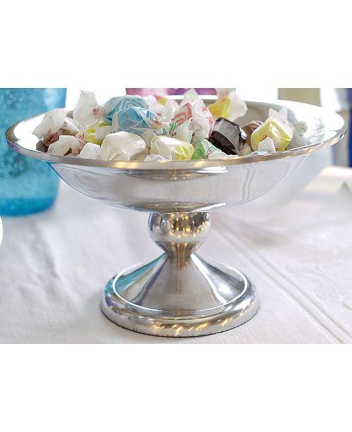 """St. Croix KINDWER 8"""" Polished Aluminum Pedestal Bowl"""