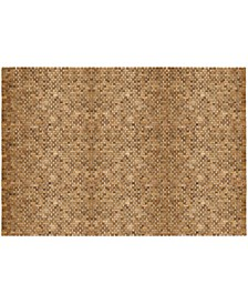 Teak Indoor And Outdoor Floor Rug, 5' X 8'