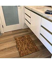 """Teak Indoorandoutdoor Floor and Bath Mat, 21"""" x 15"""""""