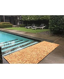 "Hip-o Modern Living Teak Indoor and Outdoor Floor and Bath Runner, 64"" x 24"""