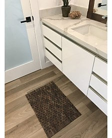 "Hip-o Modern Living Rosewood Indoor and Outdoor Floor and Bath Mat, 21"" x 15"""
