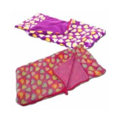 """The Queen's Treasures Set of Two 18"""" Doll Soft and Cuddly Sleeping Bags"""