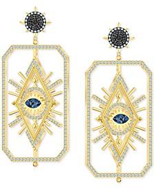 Swarovski Gold-Tone Evil Eye Crystal Earring Jackets