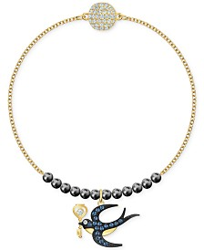 Swarovski Two-Tone Pavé Swallow Beaded Link Bracelet