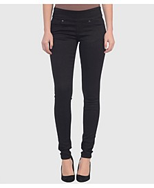 Mid Rise Pull On Skinny Ankle Pants