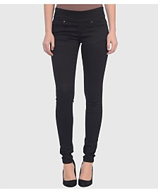 Lola Jeans Mid Rise Pull On Skinny Ankle Pants