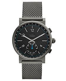 Fossil Q Men's Barstowe Smoke Stainless Steel Mesh Bracelet Hybrid Smart Watch 42mm