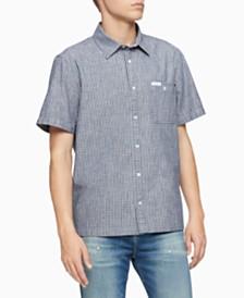 Calvin Klein Jeans Men's Dobby Workwear Shirt