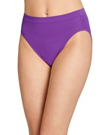 Jockey Cotton Stretch Hi Cut 1555, Created for Macy's, also available in extended sizes