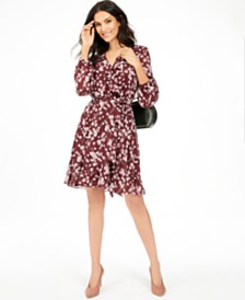 I.N.C. Floral-Print Ruffle Dress, Created for Macy's