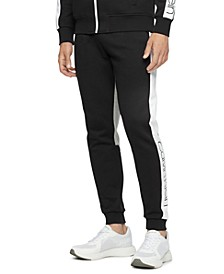 Men's Athleisure Regular-Fit Colorblocked Logo Joggers
