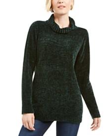Karen Scott Chenille Mock-Neck Sweater, Created for Macy's