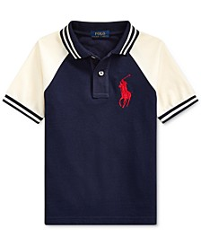 Big Boys Basic Mesh Knit Polo Shirt