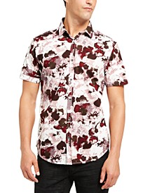INC Men's Short-Sleeve Watercolor Print Shirt, Created for Macy's