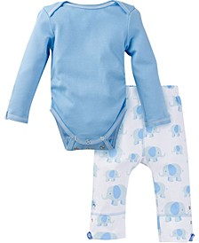Boys and Girls Long Sleeve Bodysuit and Pant Outfit