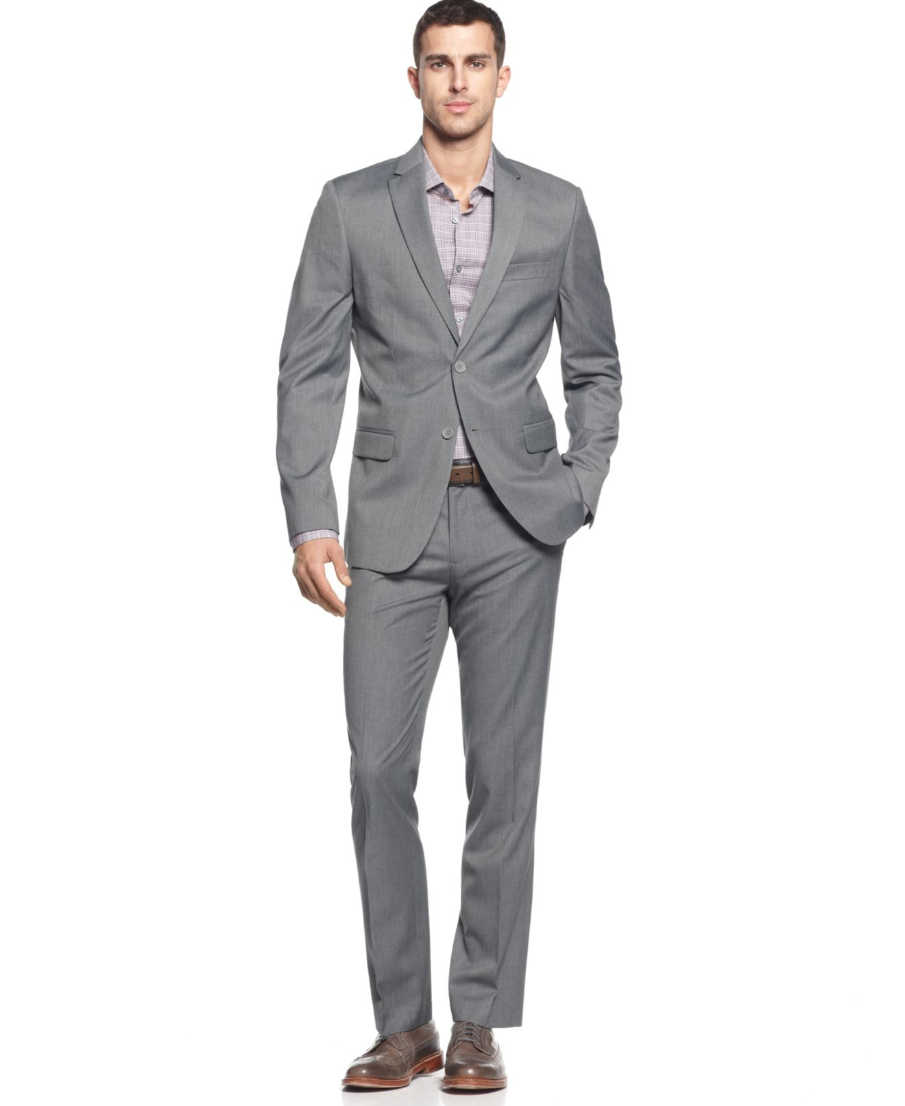 Calvin Klein Men's Blazer and Pants Suit Separates - Suits & Suit ...