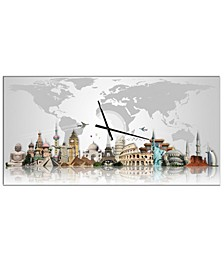 Designart Oversized Industrial Metal Wall Clock