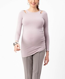 Stowaway Collection Maternity Double Keyhole Top