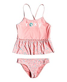 Roxy Little Girl Splash Party Two Piece Tankini Set
