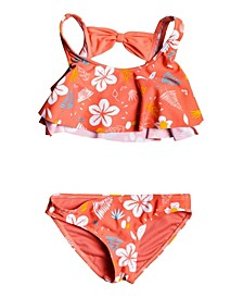 Little Girl Fruity Shake Flutter Two Piece Set