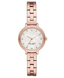 Kate Spade New York Women's Morningside Mini Rose Gold-Tone Stainless Steel Bracelet Watch 28mm