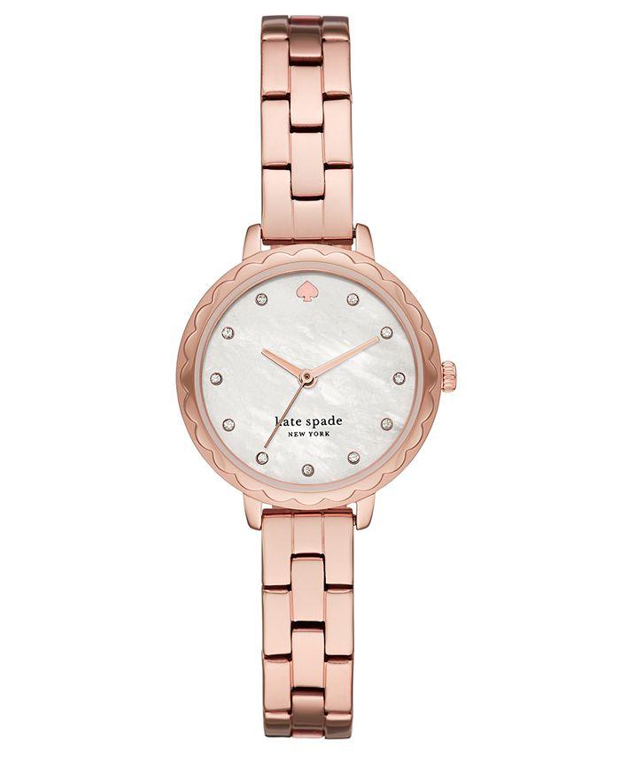 kate spade new york - Women's Morningside Mini Rose Gold-Tone Stainless Steel Bracelet Watch 28mm