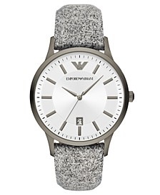 Men's Gray Fabric Strap Watch 43mm