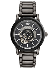 Men's Gunmetal Stainless Steel Bracelet Watch 43mm