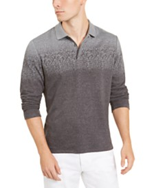 Alfani Men's Ombre Plaid Polo Shirt, Created for Macy's