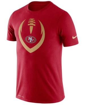 Nike Men's San Francisco 49ers Dri-fit Cotton Modern Icon T-Shirt