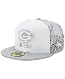 New Era Green Bay Packers White Cloud Meshback 59FIFTY Cap