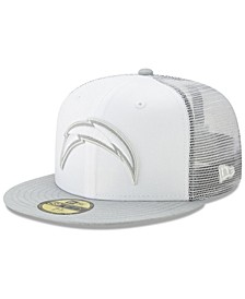Los Angeles Chargers White Cloud Meshback 59FIFTY Cap