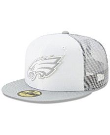 Philadelphia Eagles White Cloud Meshback 59FIFTY Cap